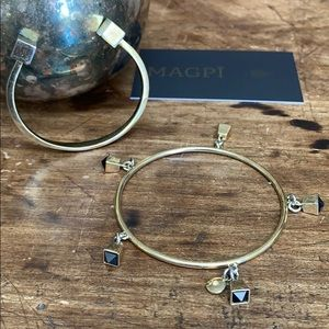 J. Crew Jewelry - J. Crew Crystal Bell Bangle Bundle
